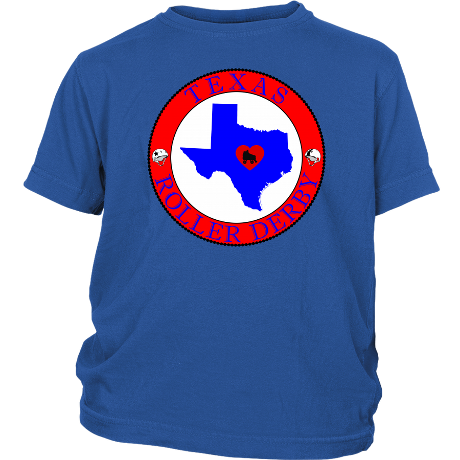 Youth Shirt - Texas Seal of Roller Derby