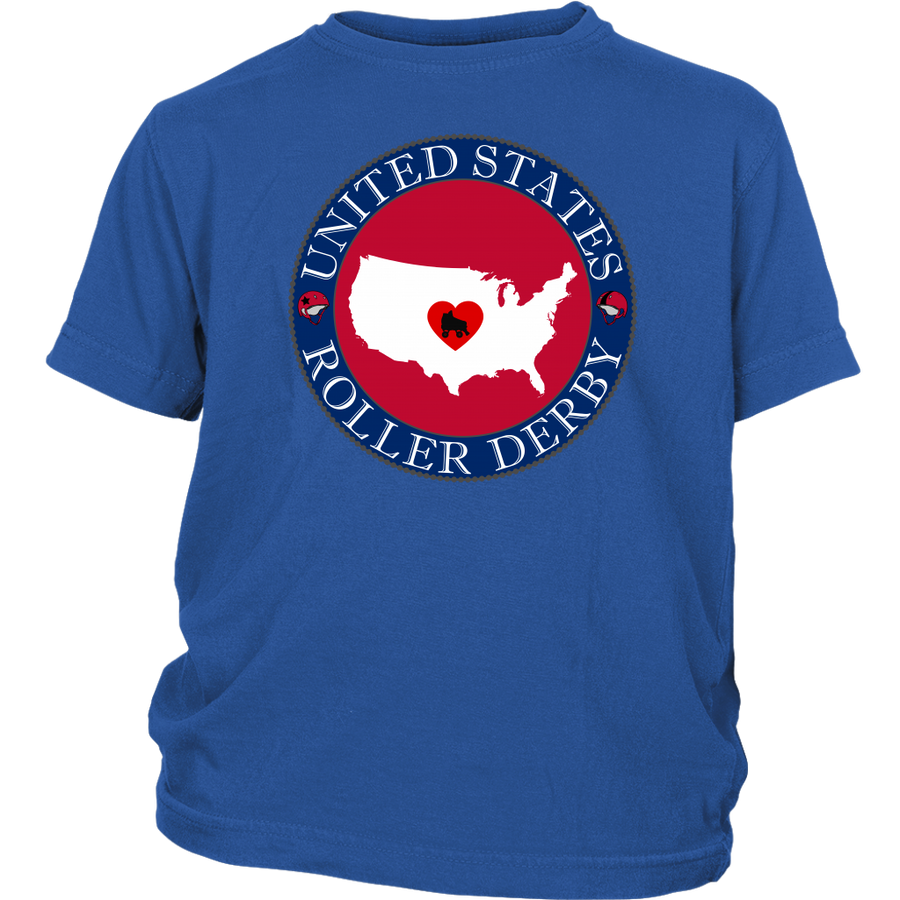 Youth Shirt - USA Seal of Roller Derby