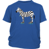 Youth Shirt - Zebra on Skates - Roller Derby themed apparel by RollerDerby.Love