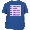 Youth Shirt - Jammer Pivot Blocker Derby themed apparel - Roller Derby Love