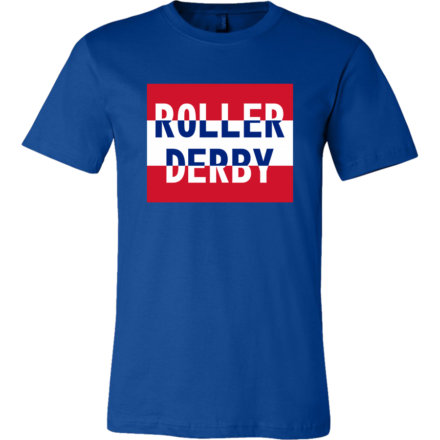 Canvas Shirt - Roller Derby Block - UK - Roller Derby themed apparel by RollerDerby.Love