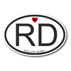 Sticker - RD Derby themed apparel - Roller Derby Love