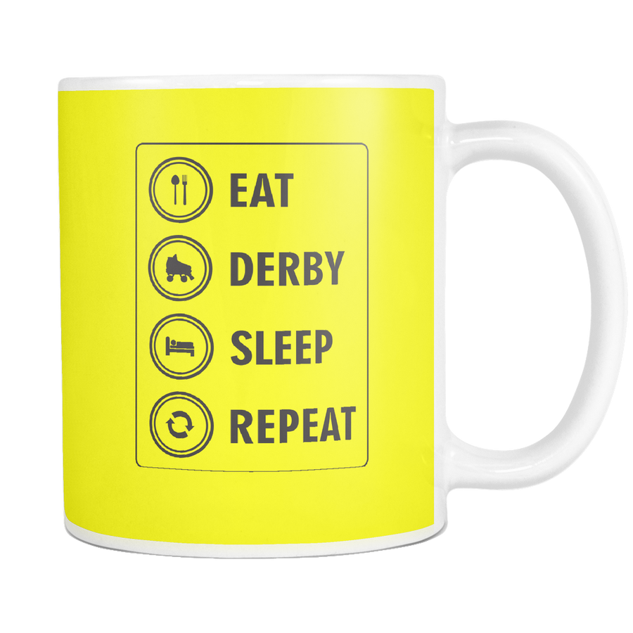 Mug Derby themed apparel - Roller Derby Love