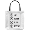 Tote Bag - Eat Derby Sleep - Roller Derby themed apparel by RollerDerby.Love