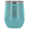Wine Tumbler - MVP Ref/NSO Derby themed apparel - Roller Derby Love