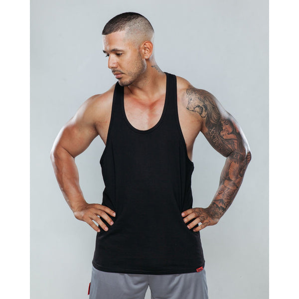 Signature Singlet in Black