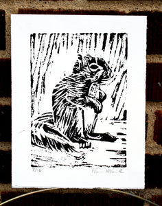 """Baby Squirrel"" 5"" x 7"" Limited Edition Print of 10"