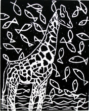 """Giraffe by the Sea"" 8"" x 10"" Limited Edition Print of 10"