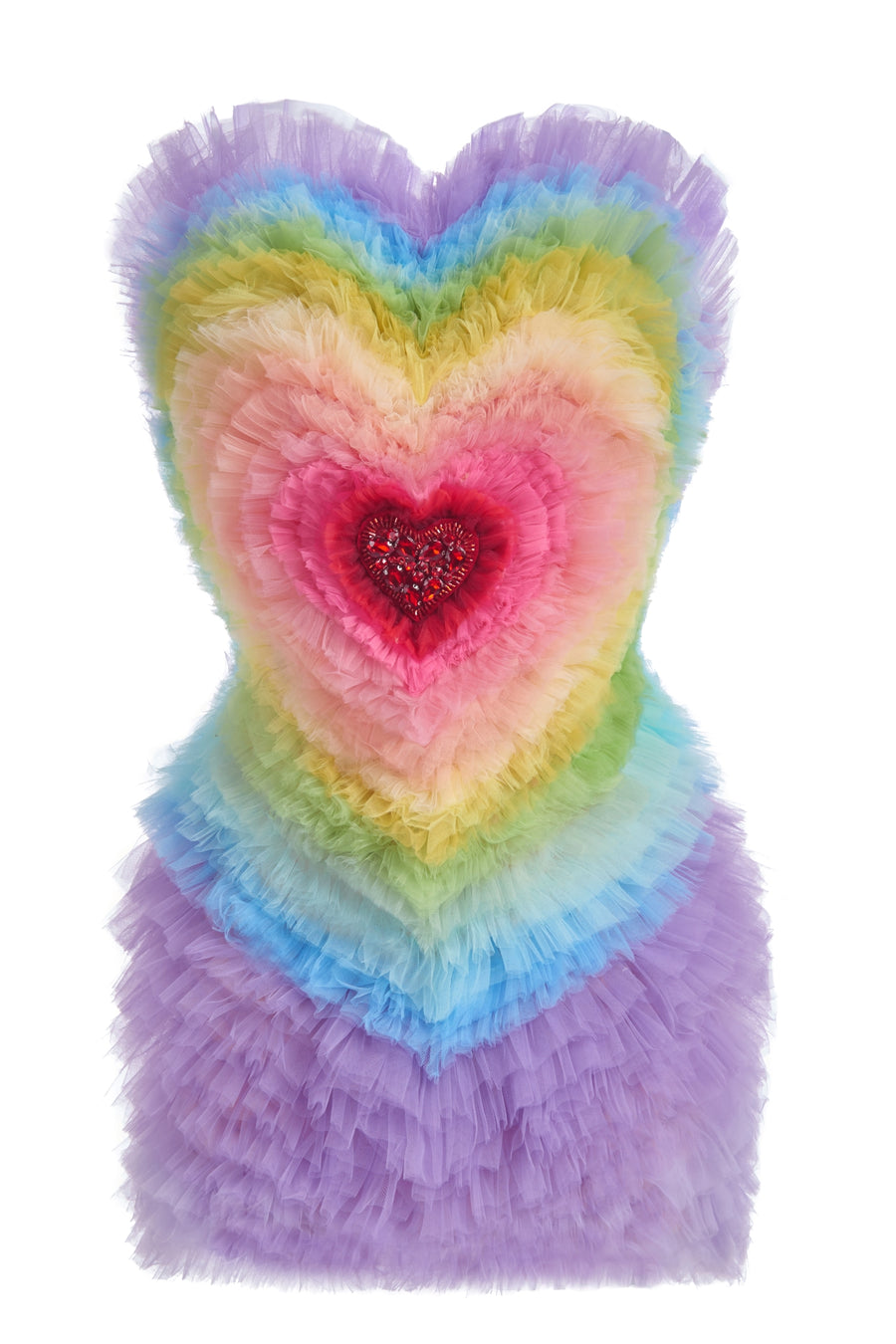 Rainbow Heart Dress