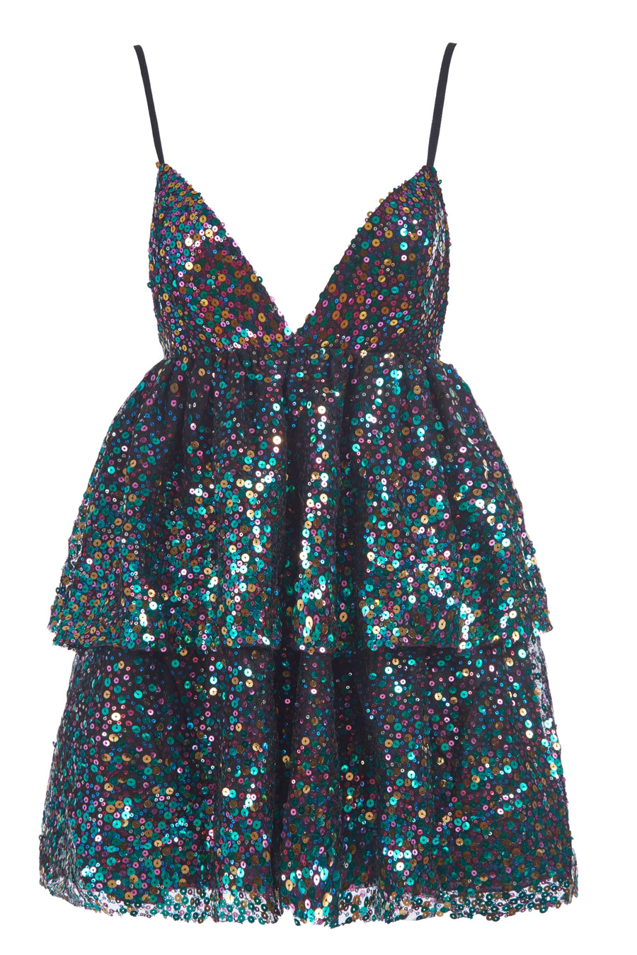 Multi Disco Mini Dress