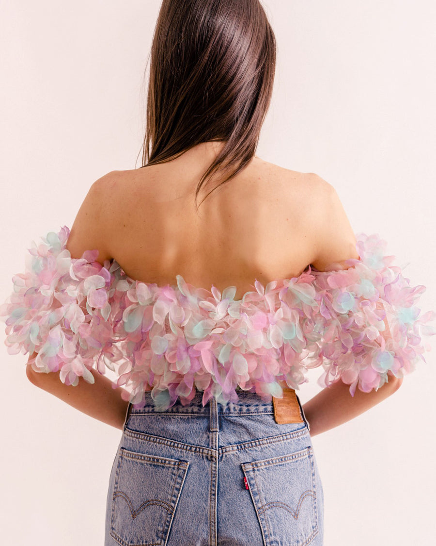 Pastel Organza Crop Top