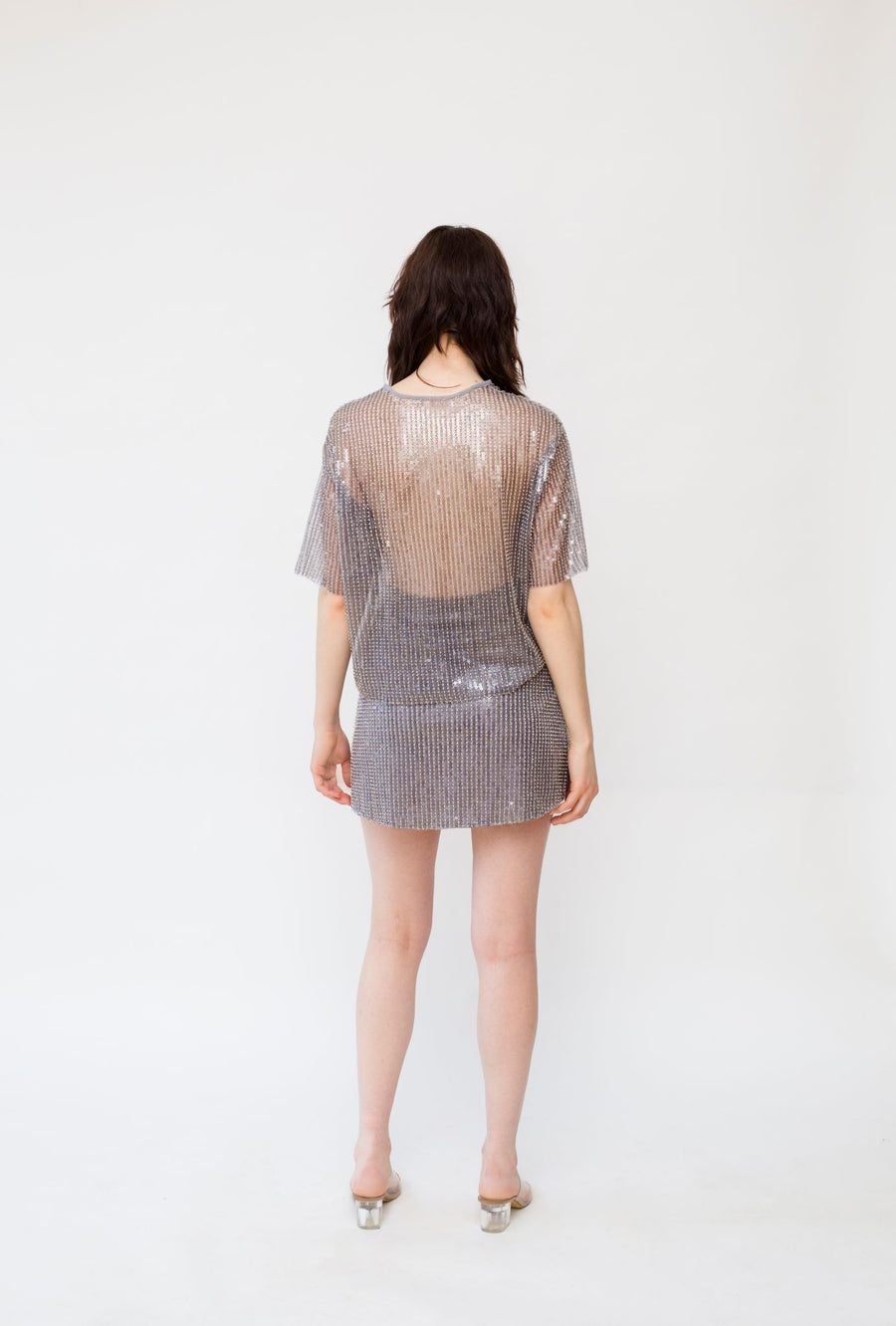 Shadow Sequin Top and Mini Skirt