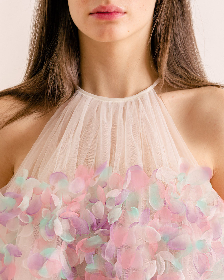 Pastel Organza Mini Dress