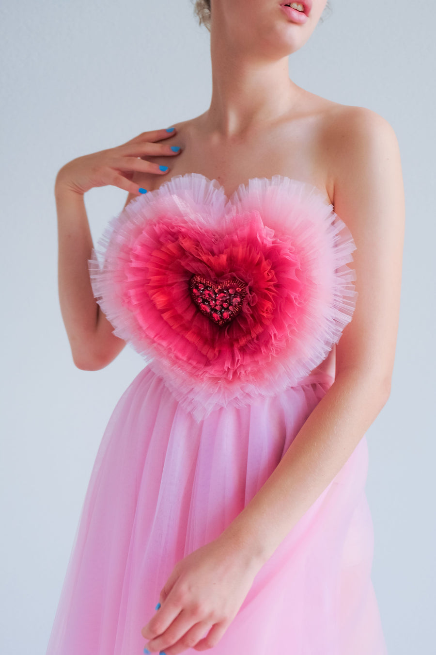 Heart Tulle Blend Dress