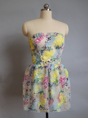 Strapless Field Flowers Dress