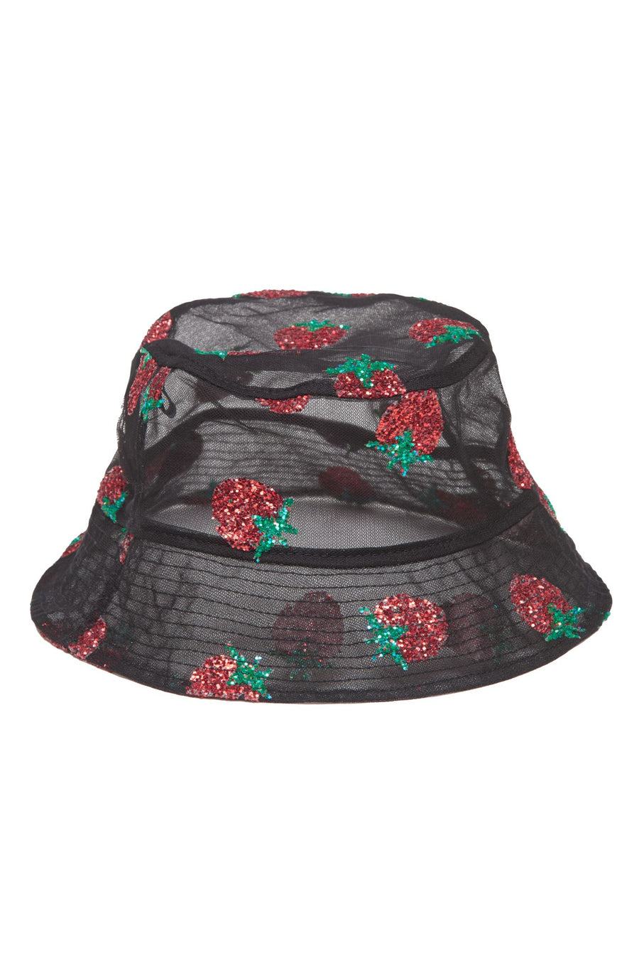 Strawberry Black Bucket Hat