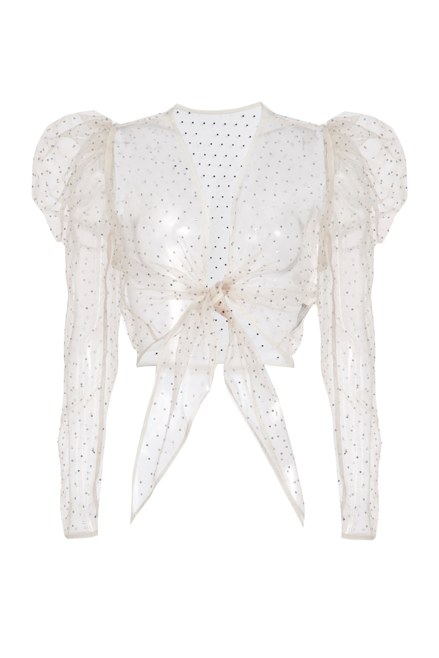 Crystal Tie-Front Blouse