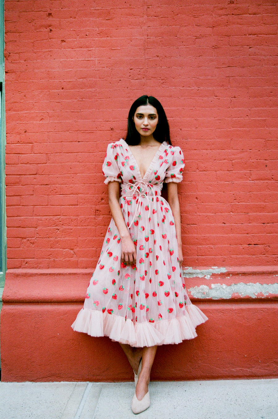 Strawberry Midi Dress
