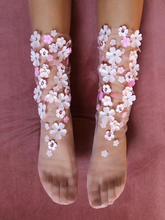Amra Flower Socks (available in 4 colors)