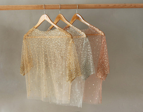 Cascading Shimmer Top