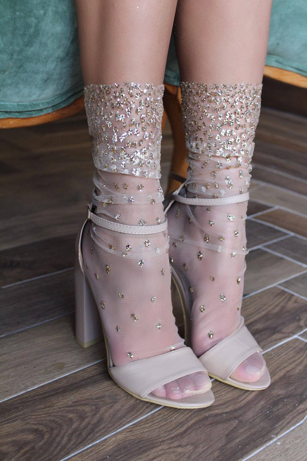 Ombre Sparkle Tulle Socks