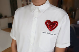 Love Button Up Shirt