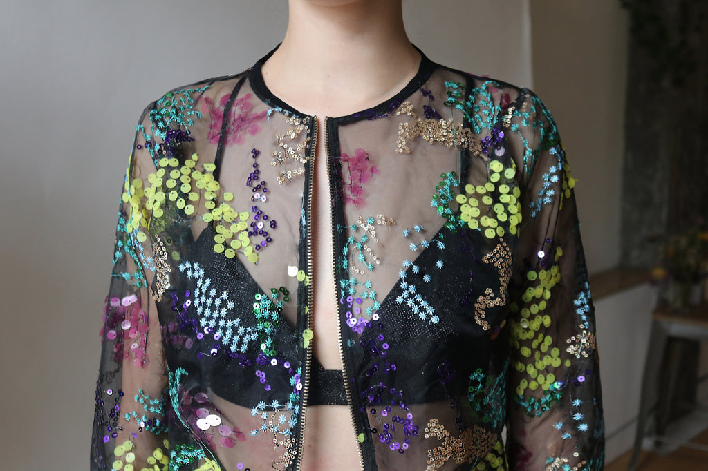 Field Flowers Bomber Jacket