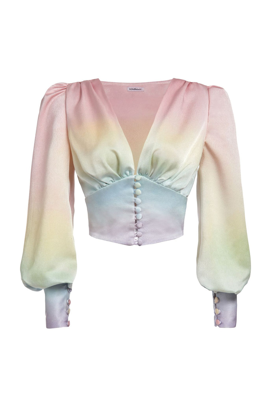 Rainbow Satin Top