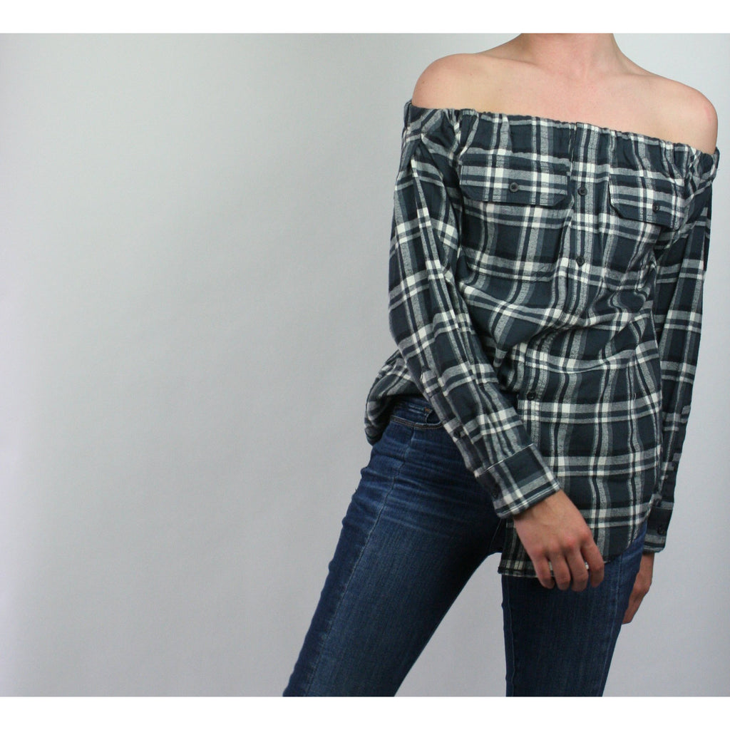 Risky Business, Flannel - Grey Plaid