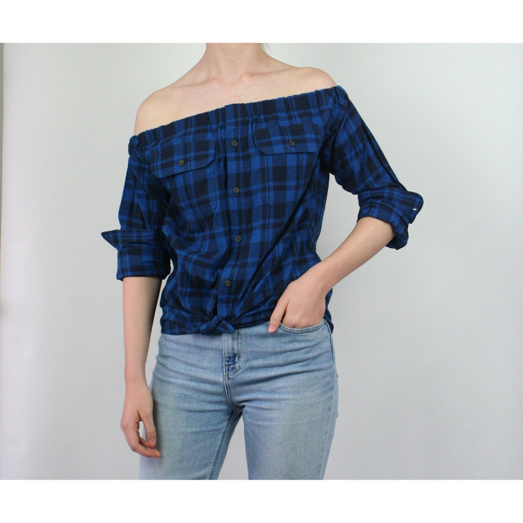 Risky Business, Flannel -  Royal Blue Plaid