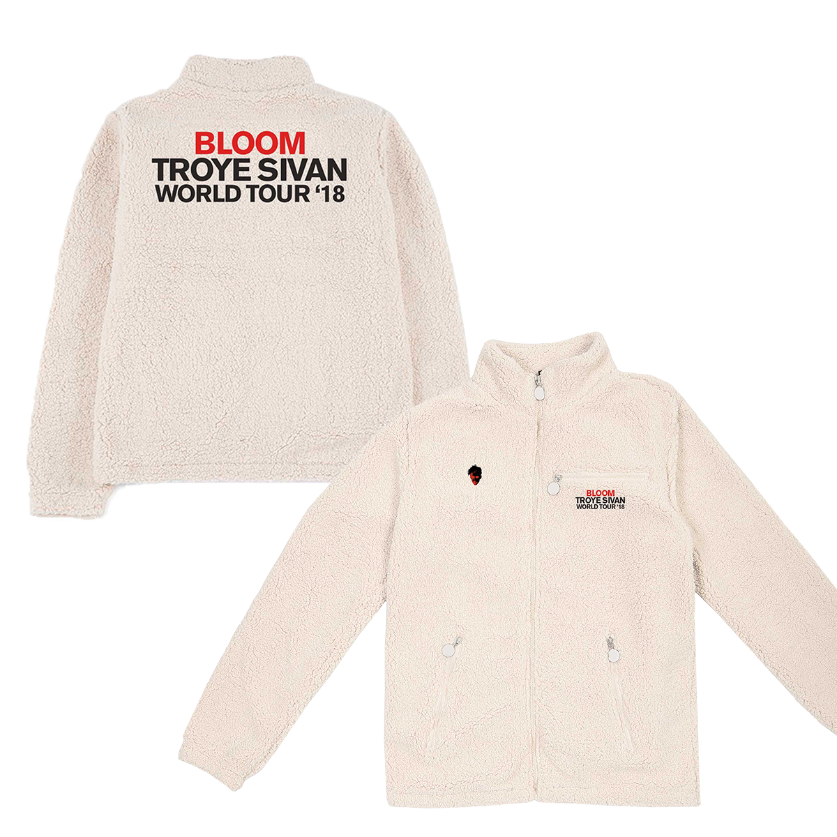 BLOOM TOUR SHERPA JACKET-Troye Sivan