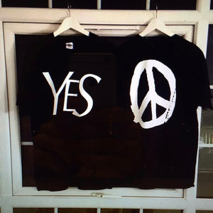 YES PEACE TEE BLACK