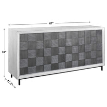 Load image into Gallery viewer, Checkerboard 4 Door Cabinet