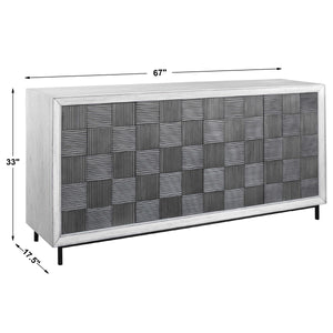 Checkerboard 4 Door Cabinet