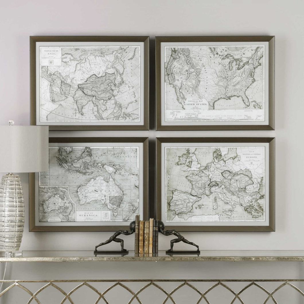 World Maps Framed Prints