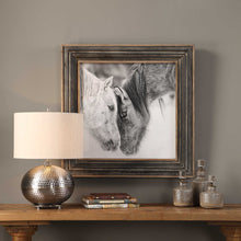 Load image into Gallery viewer, Custom Black and White Horses Framed Print