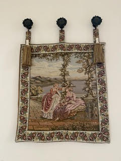 Vintage design wall tapestry with hangers - high line furniture