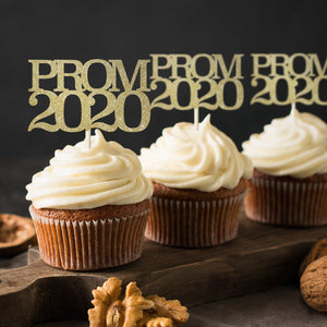 12 x prom 2020 cupcake topper. Prom party decor
