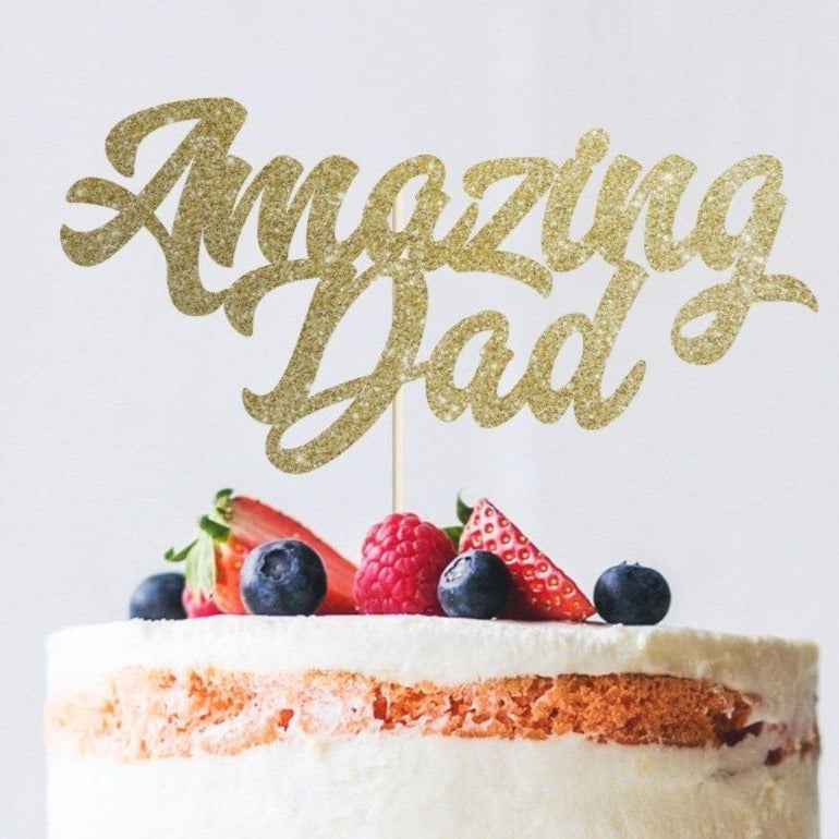 Amazing Dad Cake Topper. Father's Day Decoration