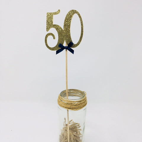 Any Age Birthday Centerpiece Set of 3