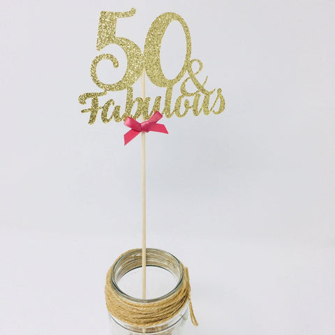 Birthday Fabulous Centerpiece. Set of 3