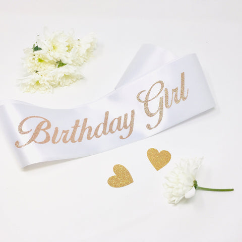Birthday Sash, Birthday Girl Sash, Party Sash