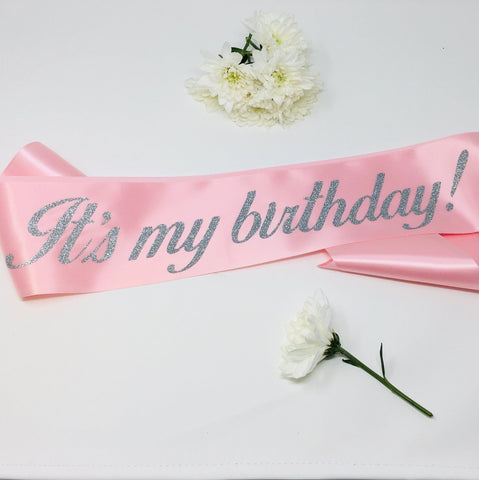 Birthday Sash | It'S My Birthday Sash | Birthday Girl Sash