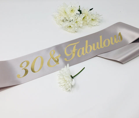 Birthday Sash, Personalised Any Age and Fabulous Sash