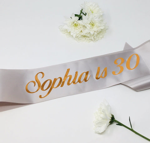 Birthday Sash, Personalised Name and Age Sash