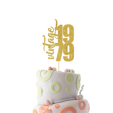Birthday Year Cake Topper. Suitable For All Years. Birthday Cake Decor.