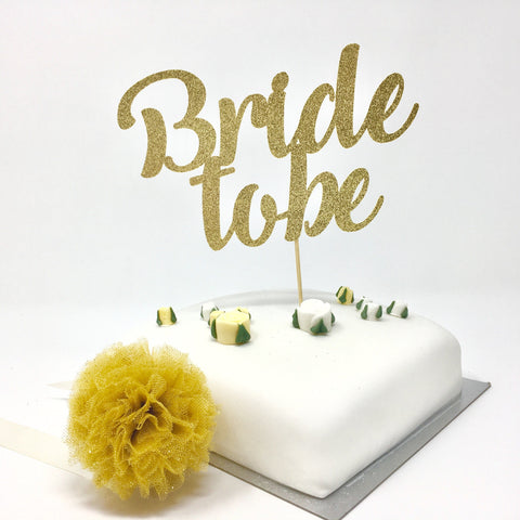 Bride To Be Cake Topper. Bridal Shower