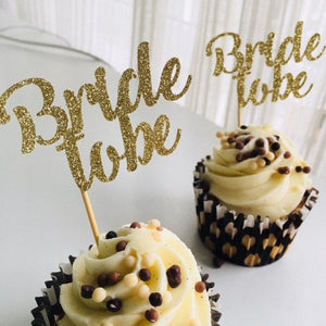 Bride To Be Cupcake Toppers.12 Pieces. Engagement Party