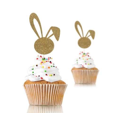Bunny Ear Cupcake Topper, Some bunny is one party, Easter Party, 12 Pieces