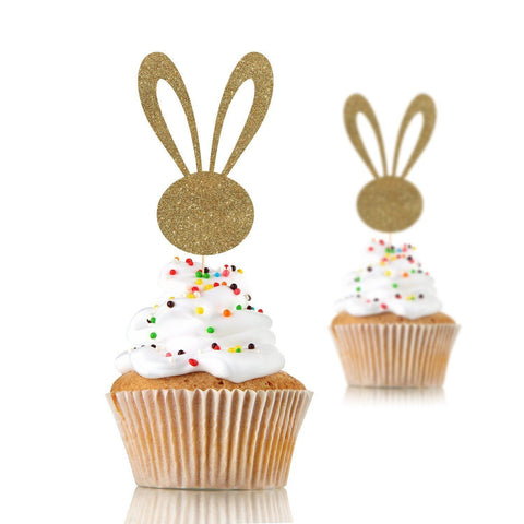 Bunny Ears Cupcake Topper, Some bunny is one, 12 Pieces